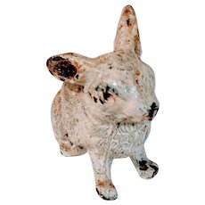 Vintage German Lead Bunny Rabbit Figurine Germany Easter Toy