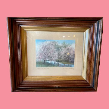 Wallace Nutting Photograph in Walnut Frame.