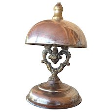 Victorian dated 1856  Silvered Hotel Bell