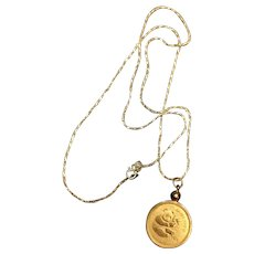 .999 Gold Panda Coin Necklace on 14k Italian Chain.