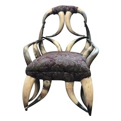 Antique Child's Horn Chair