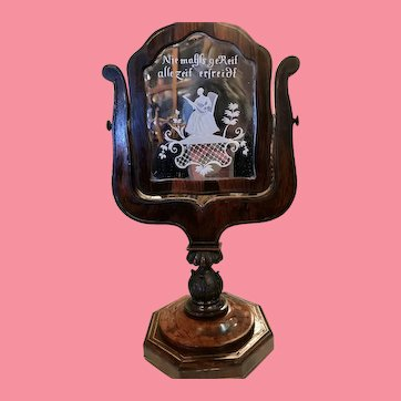 Late 18th Century German Courting Mirror