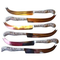 Greenleaf and Crosby Sterling Fruit Knives by Gorham