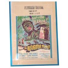 1959 Movie Lobby Card, Alligator People