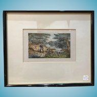 Framed 1850 Print Trout Fly Fishing