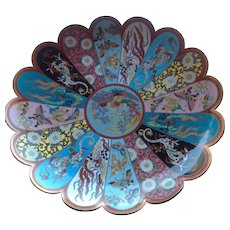 Japanese Cloisonné Enameled Bowl, Meiji Period