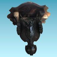 Antique Black Forest Carved Stag/Deer Shaped Shelf