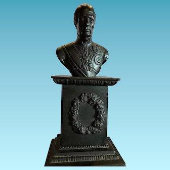 Vintage Cast Iron Military Bust