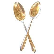 Towle Pair of Sterling Tablespoons SilverFlutes