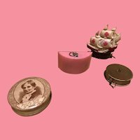 Set of 4 Vintage Celluloid Sewing Tape Measures