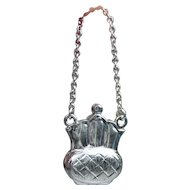 FREE SHIPPING! Tiny Sterling Silver Miniature Opening Doll Purse for French Fashion Doll or Dollhouse Doll - Also can be Locket Pendant for you! Stamped 925