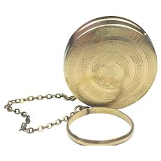 **CLOSE OUT SALE!** Tiffany 10k GOLD Rare Antique Patch or Snuff or Pill Box on Ring Chain for Dancing Tiffany & Co. New York WOW!! **Lowest Price **STORE CLOSING SOON**