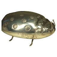Vintage LARGE STERLING SILVER 925 Novelty Figural Ladybug Box    Cute Big Bug Jewelry Container   9.9 oz!   Rafa Mexico