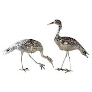 FREE SHIPPING! Set of 2 STERLING SILVER 925 Heron Birds Figurines  6.3oz    Beautiful Vintage Herons with Amazing Detail!