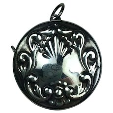 STERLING SILVER  Repousse Measuring Tape for Chatelaine PRETTY! Tape Measure Sewing Tool  FREE SHIPPING!