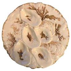 Antique Haviland Turkey Oyster Plate