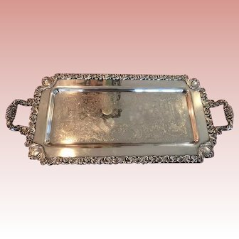 Silver plate on heavy copper Hors d'oeuvre/Dessert  Tray