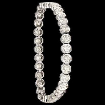 Solid 18K White Gold 5.25cttw Diamond Bracelet EXCELLENT Condition! 15.1 grams