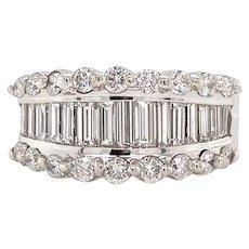 Solid 18K White Gold HOB Genuine Diamond Ring 2.25CTTW 16.2g