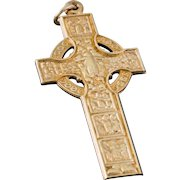 Solid 9K Yellow Gold Cross Pendant 6.2 Grams