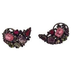 Hollycraft 1954 Silver Tone Earrings
