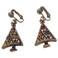Pakula Christmas Tree Earrings