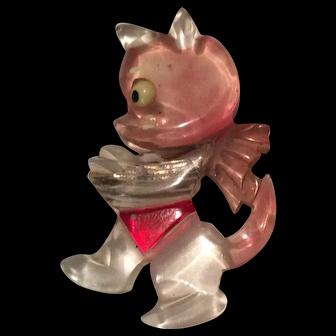Lucite Cat Pin