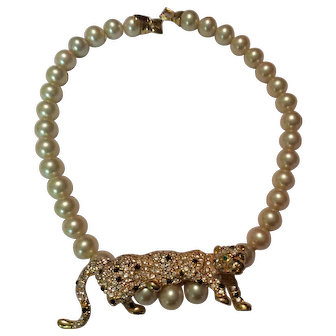 Kenneth Lane Leopard Necklace