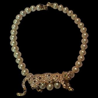 Kenneth Lane Leopard Necklace