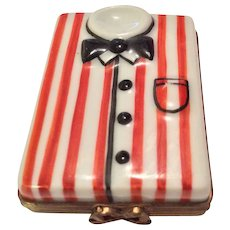 Limoges Box - Striped Shirt With Bow Tie