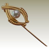 Gold-Filled Vintage Pearl Stick Pin