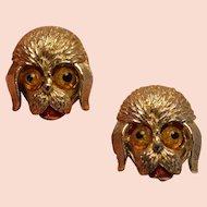 Shaggy Dog Brooch Pins