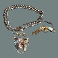 Holster and Pistol Vintage Bracelet