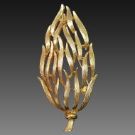 LISNER Leaf Brooch Pin