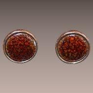 RENOIR MATISSE Enamel and Copper Earrings