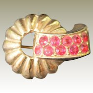 CORO Swirl Brooch Pin