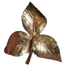 GROSSE 1961 Leaf Brooch Pin