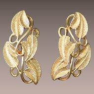CORO Gold Tone Earrings