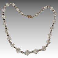 Crystal Bead Choker Necklace