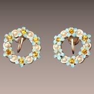 Flower WREATH Earrings