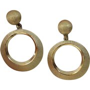 TRIFARI Circle Dangle Earrings