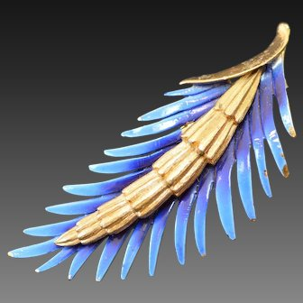 PIM Palm Frond Brooch Pin