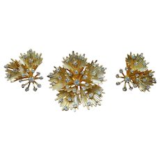 EMMONS Starburst Brooch and Earring Set