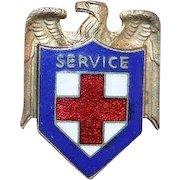 American Red Cross Enamel Service Pin