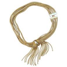 Mesh and Tassel Vintage Necklace