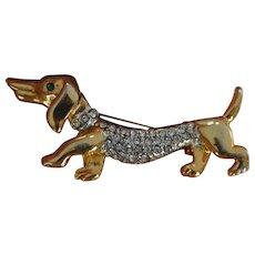 Wiener Dog Brooch Pin