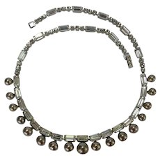 KRAMER Faux Pearl and Faux Diamond Necklace