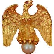 ANN HAND Eagle Brooch Pin