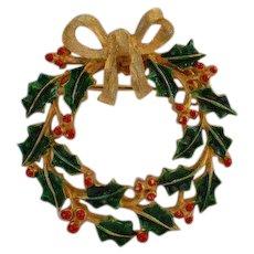 JJ Wreath Brooch Pin