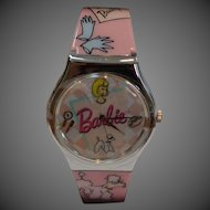 Pink Poodle Barbie Watch
